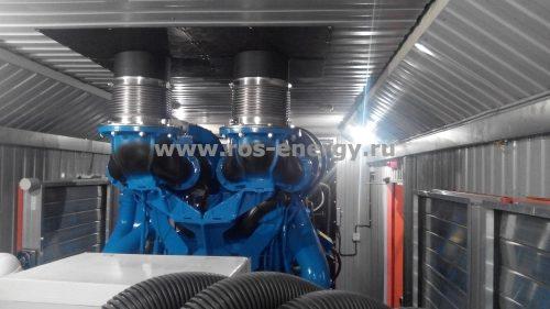 ДГУ Laser Industries 1100 кВт с двигателем Perkins в контейнере