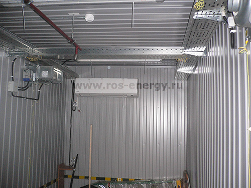 Внутренняя обшивка контейнера для размещения оборудования