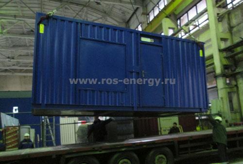 Контейнер для дизельного генератора для резервного энергоснабжения