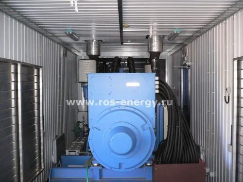 Дизельный генератор MTU MT1000 в контейнере для центра обработки данных ЦОД