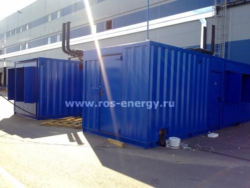 Дизельные контейнерные электростанции FG Wilson для энергоснабжения склада