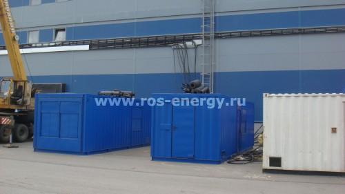 Дизельные электростанции ДЭС Onis Visa P1050 с двигателем Perkins в контейнере для склада хранения продуктов